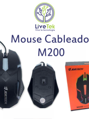 Mouse cableado Jertech M200 caja
